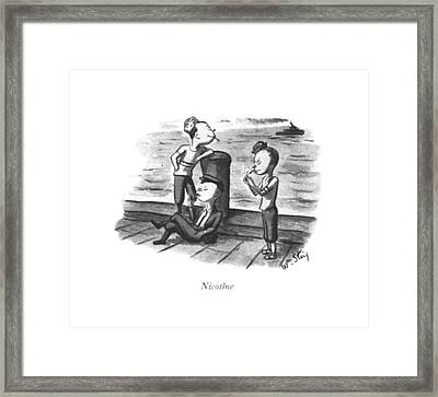 Nicotine Framed Print by William Steig