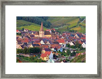 Niedermorschwihr, Alsace, France Framed Print by Peter Adams