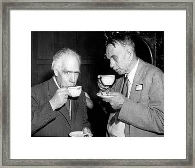 Niels Bohr And Richard Tolman Framed Print by Princeton Photo Service/ National Archives And Records Administration, Courtesy Aip Emilio Segre Visual Archives