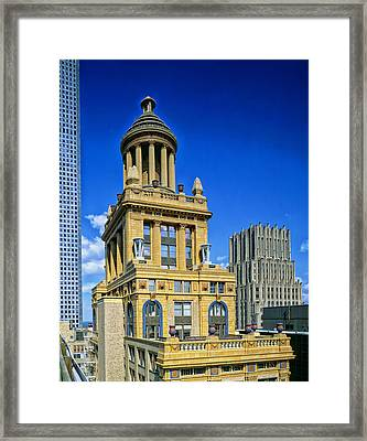 Niels Esperson Building - Houston Framed Print by Mountain Dreams