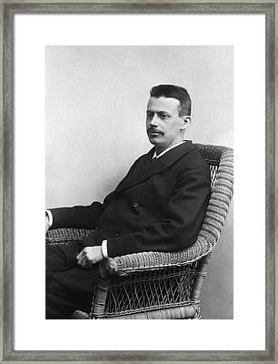 Niels Finsen Framed Print by National Library Of Medicine