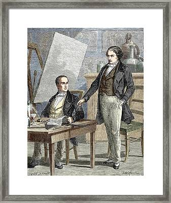 Niepce And Daguerre Partnership Framed Print by Sheila Terry