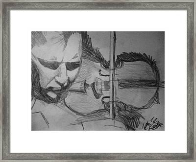Nigel Kennedy Framed Print by Agata Suchocka-Wachowska