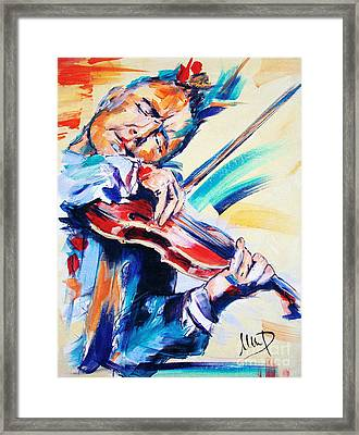 Nigel Kennedy Framed Print by Melanie D