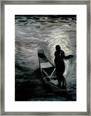 Niger River At Night Framed Print