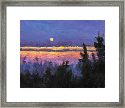 Night Across The Bay Framed Print by Vernon Reinike