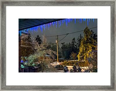 Night After The Ice Storm Framed Print