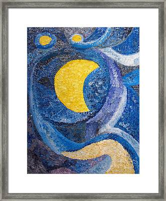 Night Framed Print by Agnes Roman