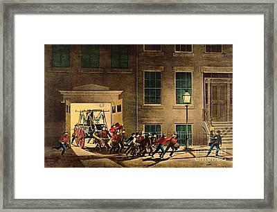 Night Alarm 1854 Framed Print