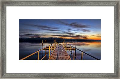 Night And Day Framed Print by Brian Young