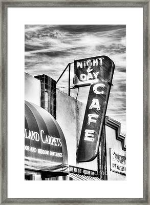 Night And Day Bw Framed Print