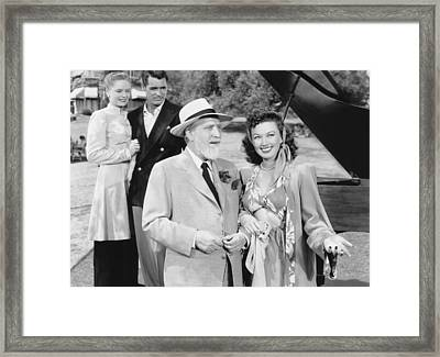 Night And Day, From Left, Alexis Smith Framed Print by Everett