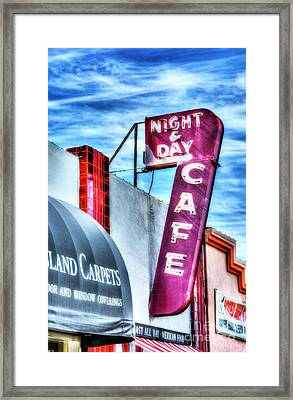 Night And Day Framed Print by Mel Steinhauer