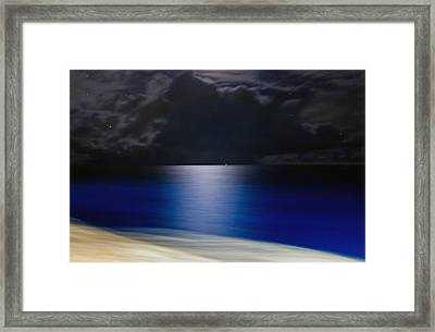 Night And Water Framed Print
