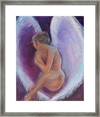 Night Angel Framed Print by Gwen Carroll