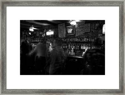 Night At A French Quarter Bar Framed Print