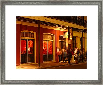 Night At Muriel's Jackson Square Framed Print
