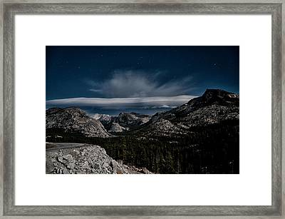 Night At Olmstead Point Framed Print