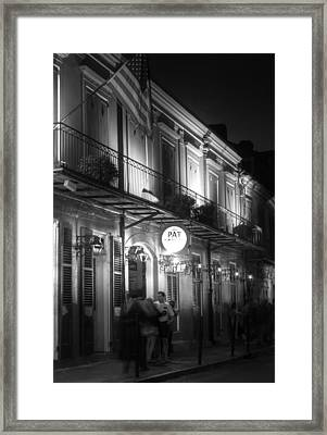 Night At Pat O'brien's Framed Print by Greg and Chrystal Mimbs