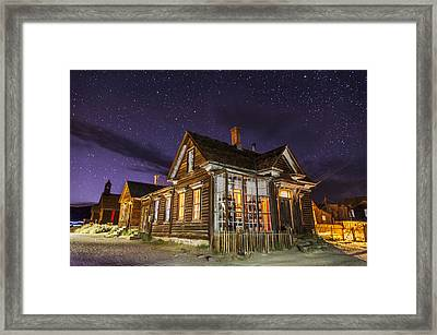 Night At The Cain House Framed Print by Cat Connor