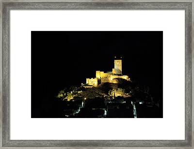 Night At The Castle Framed Print by Pedro Fernandez