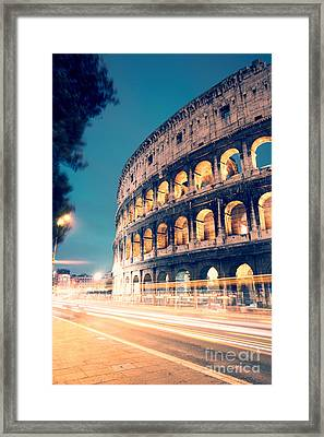 Night At The Colosseum II Framed Print