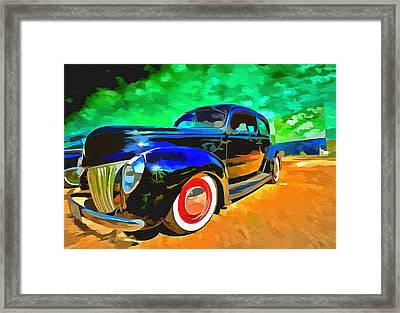Night At The Drive In Framed Print by L Wright