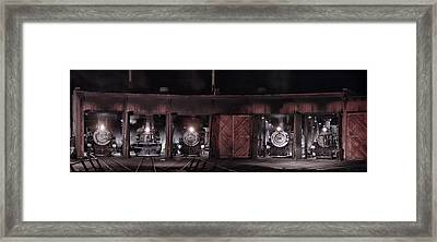 Night At The Durango Roundhouse Framed Print by Ken Smith