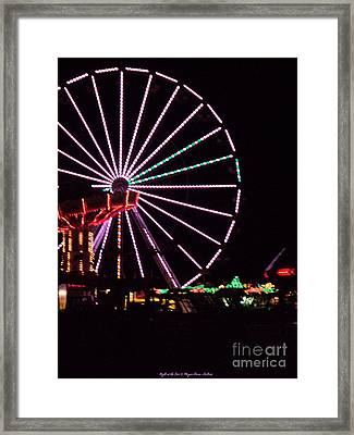 Night At The Fair Framed Print by Megan Dirsa-DuBois