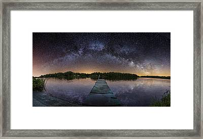 Night At The Lake  Framed Print