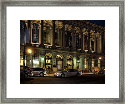 Framed Print featuring the photograph Night At The Library by Robert Culver