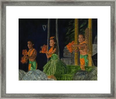 Night At The Luau Framed Print