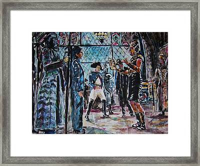 Night At The Museum Framed Print by Linda Vaughon