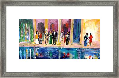 Night At Theatre Framed Print
