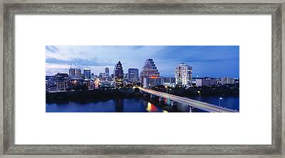 Night, Austin, Texas, Usa Framed Print by Panoramic Images