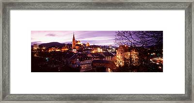 Night, Baden, Switzerland Framed Print by Panoramic Images