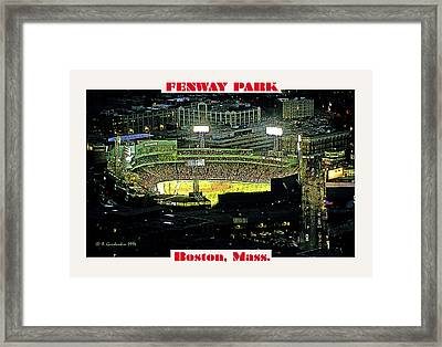Night Baseball Fenway Park Boston Massachusetts Framed Print by A Gurmankin