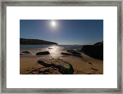 Night Beach Framed Print