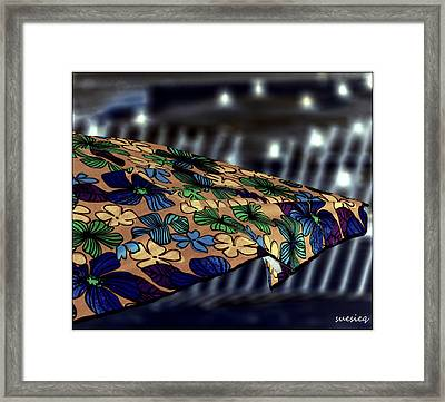 Night Beach Framed Print by Sue Rosen