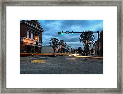 Night Beams Framed Print