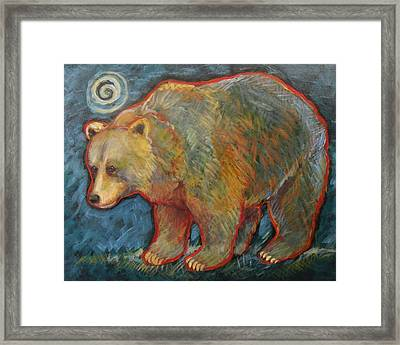 Night Bear Grizzly Bear Framed Print