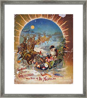 Night Before Christmas Framed Print by Granger
