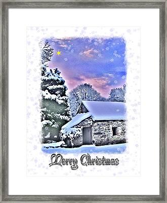 Christmas Card 27 Framed Print by Nina Ficur Feenan