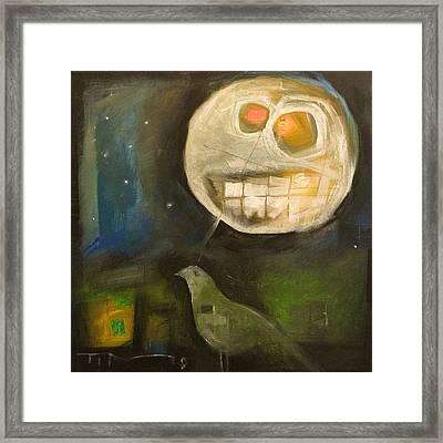 Night Bird Harvest Moon Framed Print by Tim Nyberg