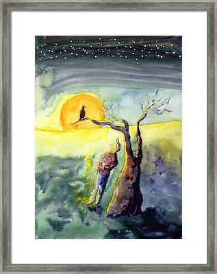 Night Bird Omen Framed Print