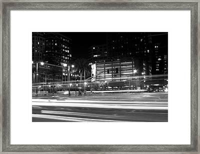 Night Blurs Framed Print