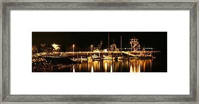Night Boats Framed Print by Melisa Meyers