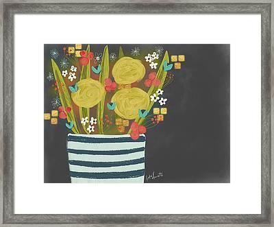 Night Bouquet Framed Print
