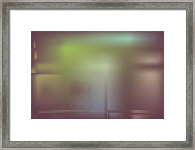 Framed Print featuring the digital art Night Bridge by Kevin McLaughlin