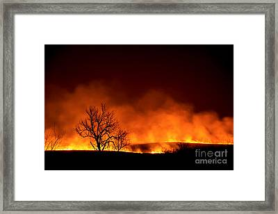 Night Burn Framed Print
